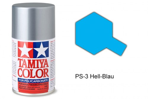 Tamiya Lexanfarbe PS-3 Hell-Blau 100ml
