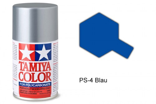 Tamiya Lexanfarbe PS-4 Blau 100ml