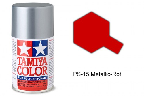 Tamiya Lexanfarbe PS-15 Metallic-Rot 100ml