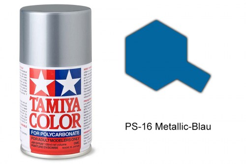 Tamiya Lexanfarbe PS-16 Metallic-Blau 100ml