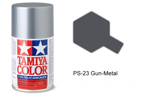 Tamiya Lexanfarbe PS-23 Gun Metal 100ml