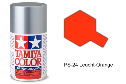 Tamiya Lexanfarbe PS-24 Leucht-Orange 100ml