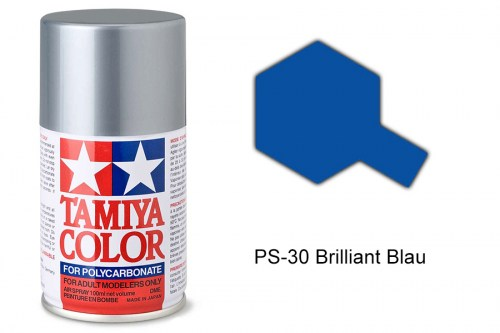 Tamiya Lexanfarbe PS-30 Brilliant Blau 100ml